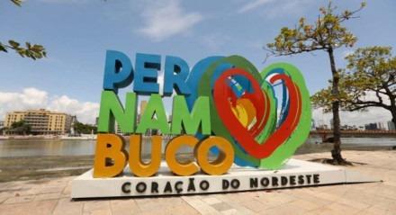 Letreiro em Recife