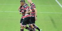 Jogo entre os times do Santa Cruz(PE) e Botafogo(PB), partida valida pelo campeonato brasileiro de futebol da série C 2021. Realizado na Arena de Pernambuco neste sábado, 25 de setembro de 2021.