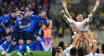 Itália x Argentina está prevista para acontecer em junho de 2022