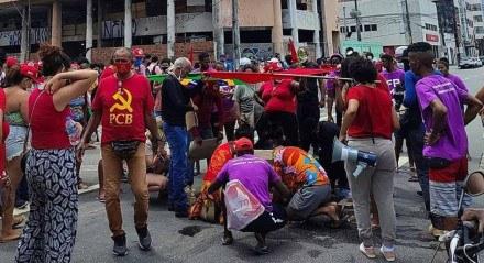 Atropelamento após protesto no Recife