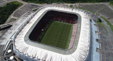 Vista aérea da Arena Pernambuco, em São Lourenço da Mata-PE.