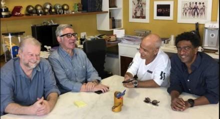 Beto Silva, Hubert Aranha, Claudio Manoel e Helio de la Peña