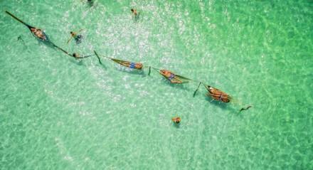 As redes nas águas cristalinas da Lagoa do Paraíso estão entre as paisagens mais conhecidas de Jericoacoara