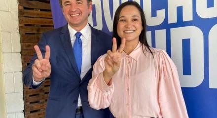 O candidato a presidente da OAB e a candidata a vice