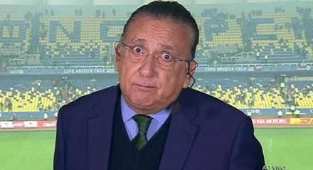 Galvão não se posicionou ao vivo sobre o episódio