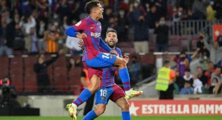 Coutinho comemora seu primeiro gol no ano pelo Barcelona