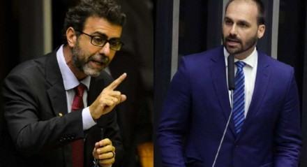 Marcelo Freixo criticou Eduardo Bolsonaro, que rebateu