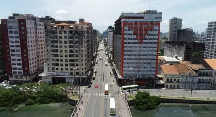 Avenida Conde da Boa Vista,  no Recife