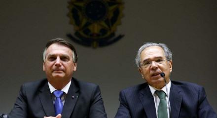 Guedes fez declaração ao lado do presidente