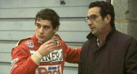 Milton da Silva ao lado de Ayrton Senna
