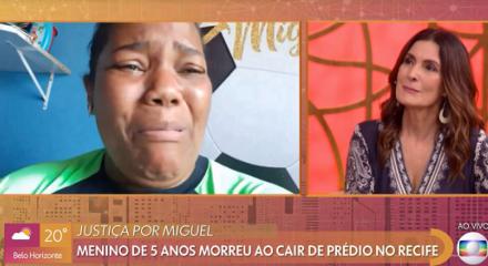 "Entrevista entre Mirtes Renata e Fátima Bernardes, nesta sexta-feira (05), no programa matutino ""Encontro"", da Rede Globo"
