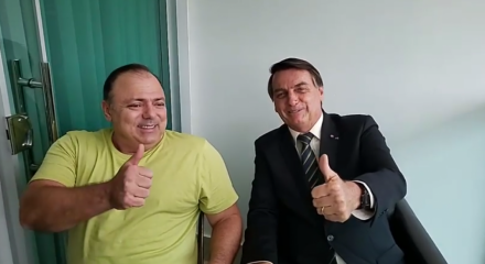 Durante o encontro, Bolsonaro elogiou a administração de Pazuello no Ministério da Saúde