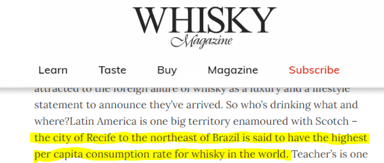 Reprodução/Whisky Magazine