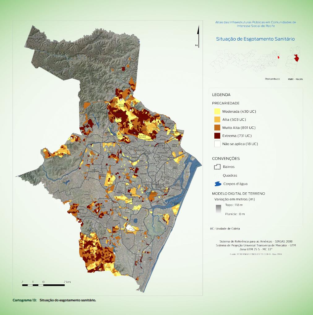 Atlas de Infraestruturas Políticas em Comunidades de Interesse Social do Recife, 2016/Reprodução
