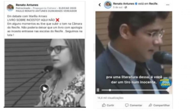Vereador Renato Antunes deverá pagar multa por conteúdo inverídico sobre Marília Arraes, diz MP Eleitoral