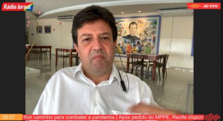 Ex-ministro da Saúde, Luiz Henrique Mandetta, em entrevista à Rádio Jornal