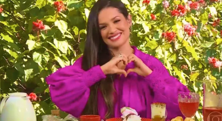 """Juliette participou do programa """"Mais Você"""", com Ana Maria Braga"""